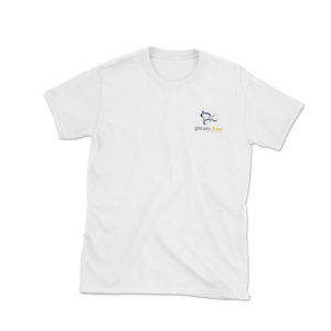 embroidered @greazychinz logo t-shirt