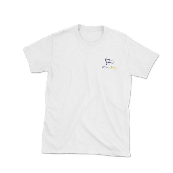 embroidered @greazychinz logo t-shirt